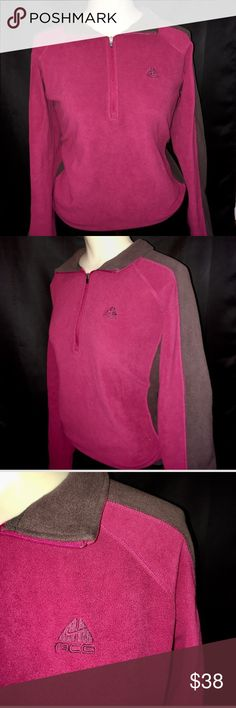 Nike ACG Pink Fleece Quarter Zip Sweater Medium Excellent used condition! Thick and cozy. Comes from a smoke free home Nike Tops Sweatshirts & Hoodies