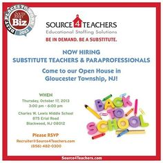 GLOUCESTER! Come join us for a #Source4Teachers at Charles W. Lewis Middle School on 10/17! RSVP now to attend!