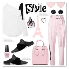 """Pink&Black Style"" by queenvirgo ❤ liked on Polyvore featuring Proenza Schouler, Alexander McQueen, Yves Saint Laurent, LMNT and OPI"