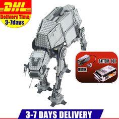 Auf Lager DHL 1137 STÜCKE LEPIN 05050 Star Wars Motorisierte Walking AT-AT Modellbau Kit Set Blocks Bricks Spielzeug Klon 10178