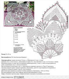 World crochet: Napkin 281 Filet Crochet, Crochet Doily Diagram, Crochet Square Patterns, Crochet Chart, Crochet Squares, Thread Crochet, Crochet Motif, Irish Crochet, Crochet Stitches