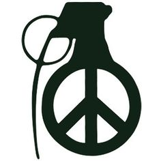 Grenade with peace sign tattoo idea