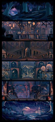"2015 Background illustrations for ""The Umbrella Factory""  http://orlincultureshop.com/blog/2015/10/5/the-umbrella-factory"