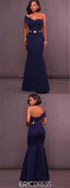 Ericdress Backless Strapless Off-the-Shoulder Belt Mermaid Dress – African Fashion Dresses - 2019 Trends African Dresses For Women, African Fashion Dresses, Ghanaian Fashion, African Clothes, African Attire, African Wear, African Women, Beautiful Gowns, Beautiful Outfits