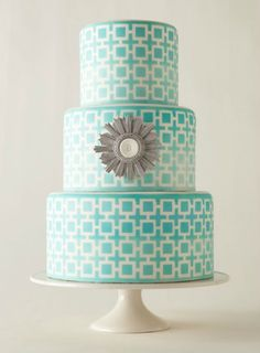 Ombre and Beach Aqua and Grey Wedding Centerpieces / Painted Mason