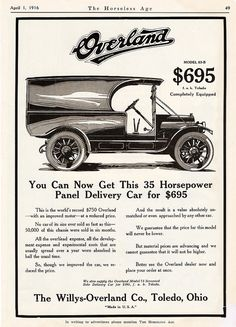 1916 Overland Model 83-B Panel Body Delivery Car | Flickr - Photo Sharing!
