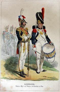 Tamburo maggiore e tamburo dei granatieri della guardia imperiale francese
