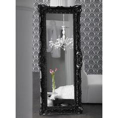 White Baroque Floor Mirror. Baroque Floor Mirror White - Itook.co