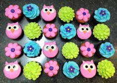 Owl Birthday Cake Owl, tree, and bow are gum paste.