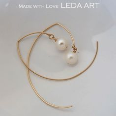 gold filled hooks with freshwater pearls