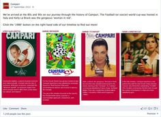 Campari global Facebook page. One of many Facebook timeline milestones. These were later implemented across other regions featuring this design.