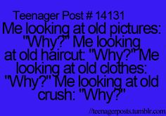 This is so true! Every time I think of my old crushes, I wonder why I ever liked them. I mean, after you stop crushing on them, they appear ugly to you. Funny Relatable Memes, True Memes, Funny Quotes, Life Quotes, 9gag Funny, Relatable Posts, Memes Humor, Teenager Quotes, Teen Quotes