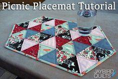 Picnic Placemat Tutorial | jaybird quilts | Bloglovin'