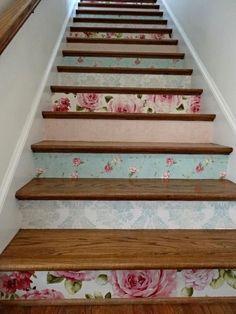 photo b38a021b-84be-4663-92d7-906570f1e14d.jpg Floral wallpaper stair risers