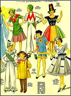 Vintage 1920s Weldon's Fancy Dress Costumes for Children - Carnival, Gala and Pageant Catalogue