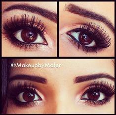finally brown eye makeup nah im kidding