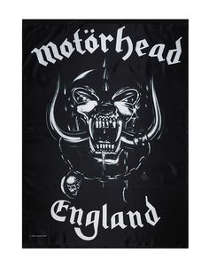 "Motorhead - England Fabric Poster.  Size: Width 30"" (91.5 cm) x Height 40"" (122 cm)  - Great printed and textile quality - Can be hung on the wall or on the ceiling - Can use blue tack, tape or velcro - It doesn't rip like a paper poster - Can be ironed to remove the wrinkle  Free Shipping to anywhere in Australia."