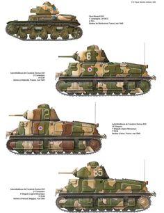 Chars de cavalerie français 1940 peu de canons efficaces contre les chars et munitions tungstène s données massivement aux espagnols entre 1936/38