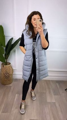 Longline puffer jacket, women's summer jacket, puffer gilet, grey jacket for women, hooded jacket