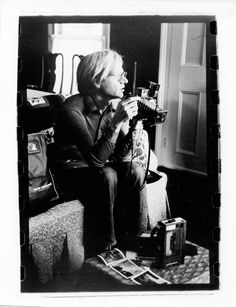 Andy with Media Toys by Gerard Malanga (1971)