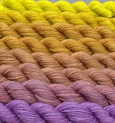 Olive to Aubergine Color Bridge Yarn Set by colorshiftyarn on Etsy, $49.60