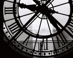 Paris Photography, Clock at the Musee D'Orsay, black and white