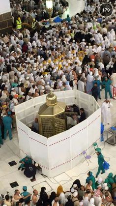 The cleaning crew busy cleaning the makaami Ibrahim # Mecca