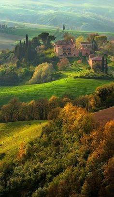peeblespair:  Val D'orcia Siena Region of Tuscany, Italy ~ Photography by David Wright