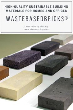 WasteBasedBricks®️: Circular #buildingmaterials made from #waste. Specializing in #green residential homes and high-end commercial real estate, #StoneCycling partners with innovative