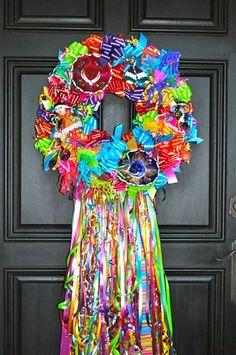 """""""San Antonio Fiesta"""" wreath but also great for Cinco de Mayo!"""
