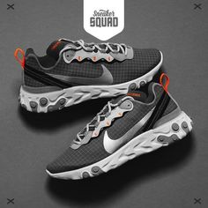 39fb73cae04fb Nike React Element 55 (grey   orange) - CD1503-001