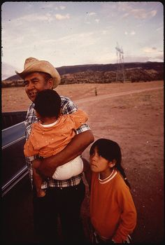 Navaho Father and Children by The U.S. National Archives, via Flickr