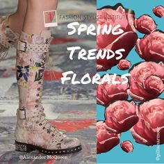 First rose of the year PLUS art PLUS floral boots!! #alexandermcqueen #fashionart #floralart