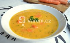 Recept na zdravou polévku z mrkve, červené čočky a zázvoru. Czech Recipes, Ethnic Recipes, Soup Recipes, Healthy Recipes, Healthy Food, Cheeseburger Chowder, Detox, Food And Drink, Drinks