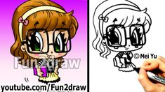 Cute Drawings - How to Draw Chibi - How to Draw a Nerd Girl ...