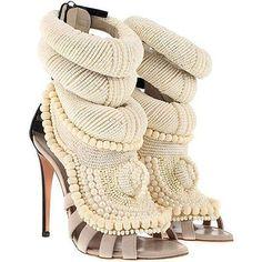 Giuseppe Zanotti x Kanye West pearl embroidered sandals #giuseppezanottiheelskanyewest