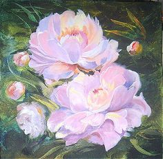 Original Acrylic PaintingCanvas on frameFine ArtWall ArtFlowers Painting20 x 20 inches50 x 50 cmFREE SHIPPINGPink PeoniesHome decor (150.00 EUR) by BeikmaneArtGallery