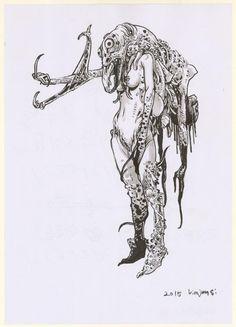 "Kim Jung Gi - illustration originale, ""Tu montes chéri ?"""