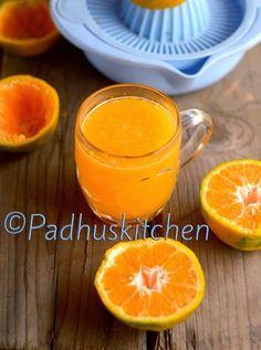 Orange Juice Recipe-How to make Orange Juice-Juice Recipes | Padhuskitchen