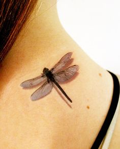 SUMMER SALE 3D Dragonfly Temporary Tattoo by TattooMint on Etsy
