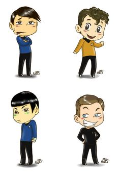 Captain Kirk Cartoon Tribute | JoshuaKahan's Blog |Drawing Cute Cartoon Star Trek Kirk