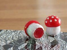 Ventilkappen-Pilze aus Fimo