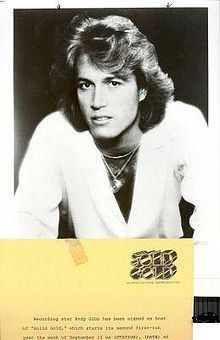 Andy Gibb Birth nameAndrew Roy Gibb  Born5 March 1958  Manchester, England  OriginRedcliffe, Australia  Died10 March 1988 (aged30)  Oxford, England of myocarditis, (an inflammation of the heart muscle) caused by a recent viral infection.