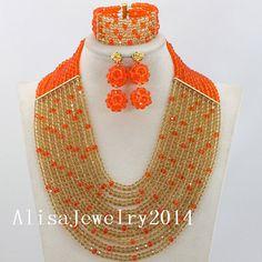 Fashion Nigerian African Wedding Beads Jewelry by AlisaJewelry2014, $52.40
