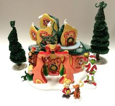 Dept 56 Cindy Lou Who's House How The Grinch Stole Christmas Village Dr Seuss