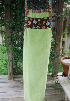 full-length pull-over towel apron