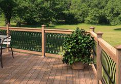 Randy likes this railing. deck design ideas - Google Search