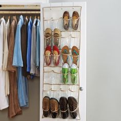 24 Pocket Over the Door Shoe Rack Over Door Shoe Rack, Toy Rooms, Closet Organization, Doors, Storage, Organizers, Camping, Pocket, Slab Doors