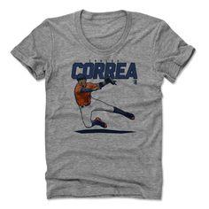 Carlos Correa Score B Houston Officially Licensed MLBPA Womens Scoop Neck T-Shirt S-XL