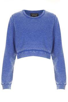 Burnout Crop Sweat - Sweatshirts & Hoodies - Jersey Tops  - Clothing